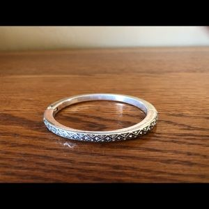 Brighton diamond hinged bracelet